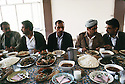 Iraq 1991<br /> Shaklawa: Lunch with personalities of the Kurdish front