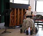 Harriet Harris during the Rehearsal of the  Barrington Stage Company production of 'The Royal Family of Broadway', the new musical by William Finn and Rachel Sheinken, at Ripley Grier Studios on May 11, 2018 in New York City.