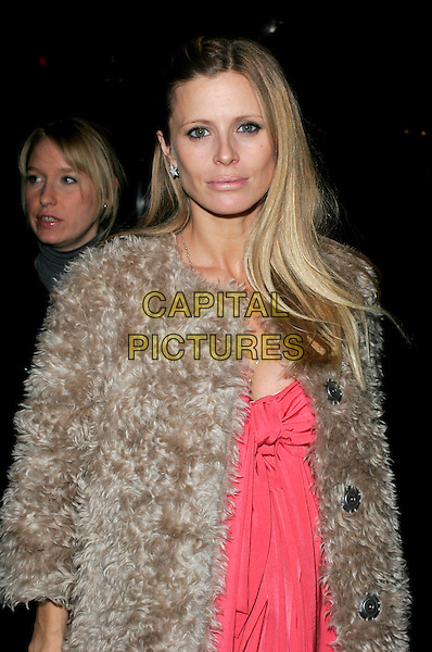 LAURA BAILEY.The Vogue Pre BAFTA Party at Cecconis, Mayfair, London, England..February 8th, 2008 .half length brown fur beige pink dress .CAP/AH.©Adam Houghton/Capital Pictures