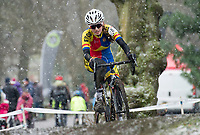 Picture by Allan McKenzie/SWpix.com - 10/12/17 - Cycling - HSBC UK National Cyclo-Cross Championships - Round 5, Peel Park - Bradford, England - Lily Greenhalgh.