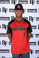 Al Dumas (1) of Eupora High School in Eupora, Mississippi during the Baseball Factory All-America Pre-Season Tournament, powered by Under Armour, on January 12, 2018 at Sloan Park Complex in Mesa, Arizona.  (Mike Janes/Four Seam Images)