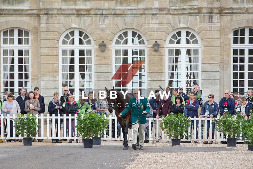 RSA-Alexander Peternell (ASIH) FIRST HORSE INSPECTION: EVENTING: The Alltech FEI World Equestrian Games 2014 In Normandy - France (Wednesday 27 August) CREDIT: Libby Law COPYRIGHT: LIBBY LAW PHOTOGRAPHY - NZL
