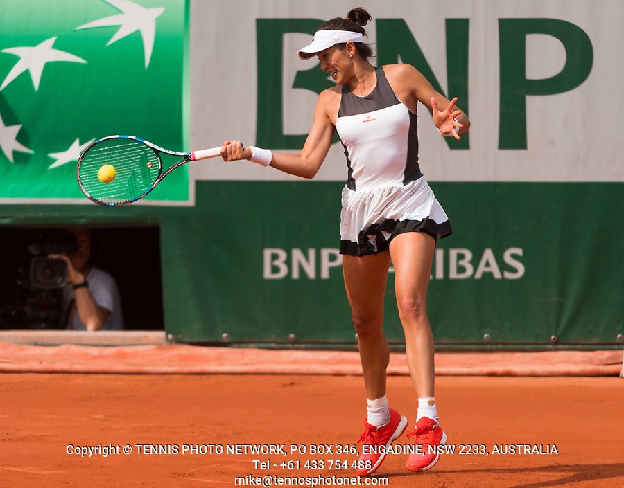 GARBI&Ntilde;E MUGURUZA (ESP)<br /> <br /> TENNIS - FRENCH OPEN - ROLAND GARROS - ATP - WTA - ITF - GRAND SLAM - CHAMPIONSHIPS - PARIS - FRANCE - 2017  <br /> <br /> <br /> <br /> &copy; TENNIS PHOTO NETWORK
