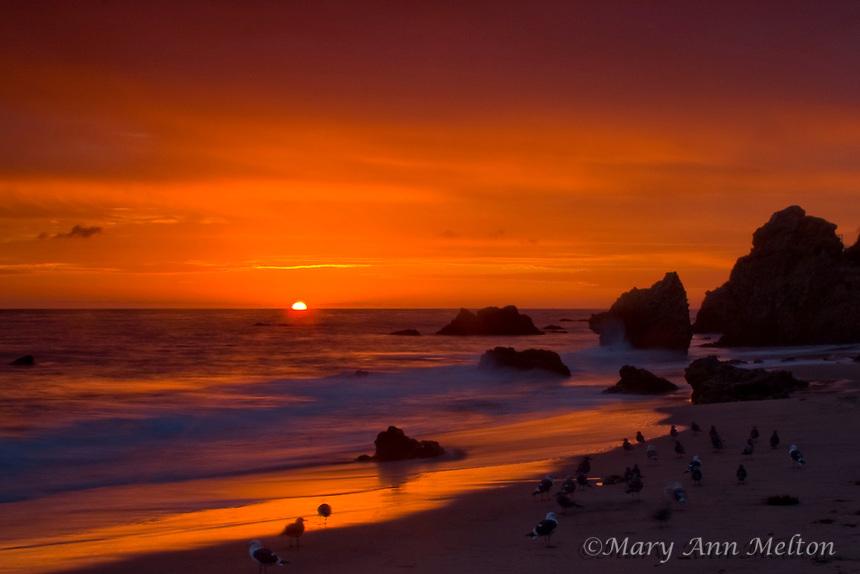 Sunset at El Matador Beach, Malibu, California