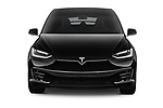 Car photography straight front view of a 2017 Tesla Model-X 75D 5 Door SUV Front View