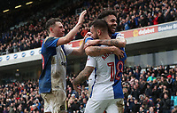 Blackburn Rovers' Adam Armstrong celebrates scoring his side's second goal <br /> <br /> Photographer Rachel Holborn/CameraSport<br /> <br /> The EFL Sky Bet League One - Blackburn Rovers v Blackpool - Saturday 10th March 2018 - Ewood Park - Blackburn<br /> <br /> World Copyright &copy; 2018 CameraSport. All rights reserved. 43 Linden Ave. Countesthorpe. Leicester. England. LE8 5PG - Tel: +44 (0) 116 277 4147 - admin@camerasport.com - www.camerasport.com