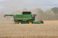 Harvesting Winter wheat<br /> &copy;Tim Scrivener Photographer 07850 303986<br />      ....Covering Agriculture In The UK....