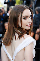 "Lily Collins at the ""Okja"" premiere during the 70th Cannes Film Festival at the Palais des Festivals on May 19, 2017 in Cannes, France. (c) John Rasimus /MediaPunch ***FRANCE, SWEDEN, NORWAY, DENARK, FINLAND, USA, CZECH REPUBLIC, SOUTH AMERICA ONLY***"