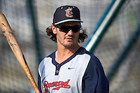 Brevard County Manatees Clint Coulter (40) during batting practice before a game against the Fort Myers Miracle on April 13, 2016 at Hammond Stadium in Fort Myers, Florida.  Fort Myers defeated Brevard County 3-0.  (Mike Janes/Four Seam Images)