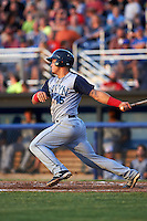 Brooklyn Cyclones designated hitter Brandon Brosher (15) at bat during a game against the Batavia Muckdogs on July 4, 2016 at Dwyer Stadium in Batavia, New York.  Brooklyn defeated Batavia 5-1.  (Mike Janes/Four Seam Images)