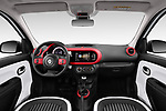Stock photo of straight dashboard view of a 2019 Renault Twingo Edition One + 5 Door Hatchback