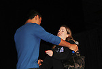 Bold and Beautiful and Saved by the Bell's Mario Lopez on stage with fan at the New Jersey Ultimate Women's Expo on October 29, 2017 at the New Jersey Convention Center, Edison, New Jersey. He did a Q&A, Meet and Greet, photos and posed with Sponsor ShopRite.  (Photo by Sue Coflin/Max Photo)