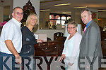 FURNITURE: Mike Moriarty of Moriartry's Furniture Store, Killorglin showing some of the people who came to support the Family Day at the Store on Sunday, L-r: David Smith ((Kilorglin), Geraldine O'Sullivan (Moriarty's), Shenna Smith (Killorglin) and Mike Moriarty (Owner)........ ..........