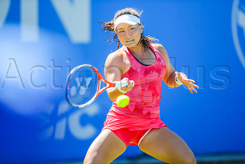 June 18th 2017, Edgbaston Priory Club; Tennis Tournament; Aegon Classic Birmingham; Sunday Qualifiers; Grace Min plays Camila Giorgi during qualification