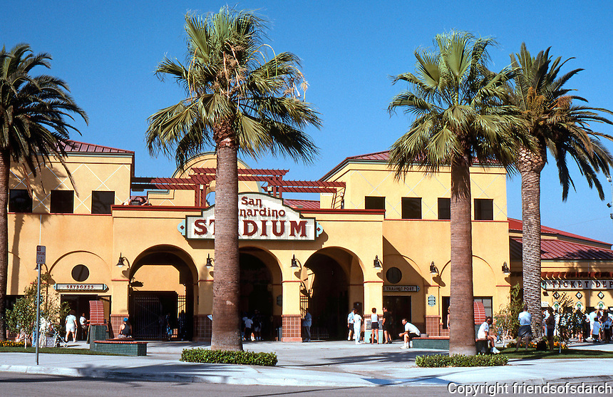 "Ballparks: San Bernardino Ballpark, ""The Ranch"" facade."