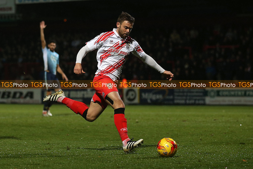 Matthew Godden of Stevenage during Stevenage vs Blackpool, Sky Bet EFL League 2 Football at the Lamex Stadium on 10th December 2016