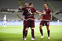 Andrea Belotti of Torino FC  (C) celebrates with team mates after scoring the goal of 1-0 during the Serie A football match between Torino FC and Udinese at Olimpico stadium in Torino ( Italy ), June 23th, 2020. Play resumes behind closed doors following the outbreak of the coronavirus disease. <br /> Photo Image Sport / Insidefoto