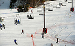 NEW HARTFORD,  CT-122616JS05-- Skiers and snowboaders enjoy the slopes Monday at Ski Sundown in New Hartford. The hills opened for the season this past Friday. <br />   Jim Shannon Republican American