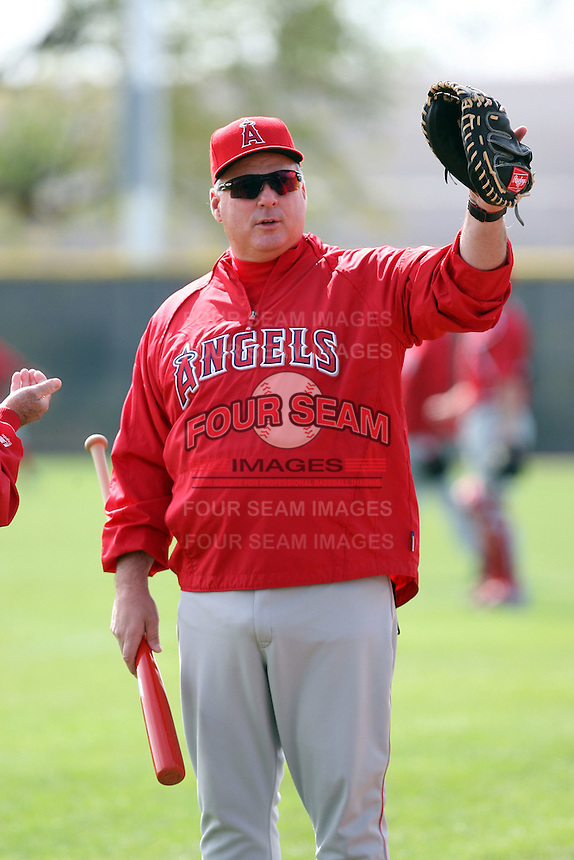 Mike Scioscia - manager. Los Angeles Angels spring training workouts at the Angels complex, Tempe, AZ - 02/24/2010.Photo by:  Bill Mitchell/Four Seam Images.