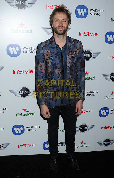 Paul McDonald.Warner Music Group 2013 Grammy Celebration held at The Chateau Marmont, West Hollywood, California, USA..February 10th, 2013.full length black trousers blue pink floral print suit jacket beard facial hair .CAP/ADM/BP.©Byron Purvis/AdMedia/Capital Pictures.