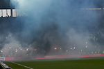 10.03.2019,  GER; 2. FBL, FC St. Pauli vs Hamburger SV ,DFL REGULATIONS PROHIBIT ANY USE OF PHOTOGRAPHS AS IMAGE SEQUENCES AND/OR QUASI-VIDEO, im Bild Feature Abbrennen von Pyrotechnik der HSV Fans Foto © nordphoto / Witke