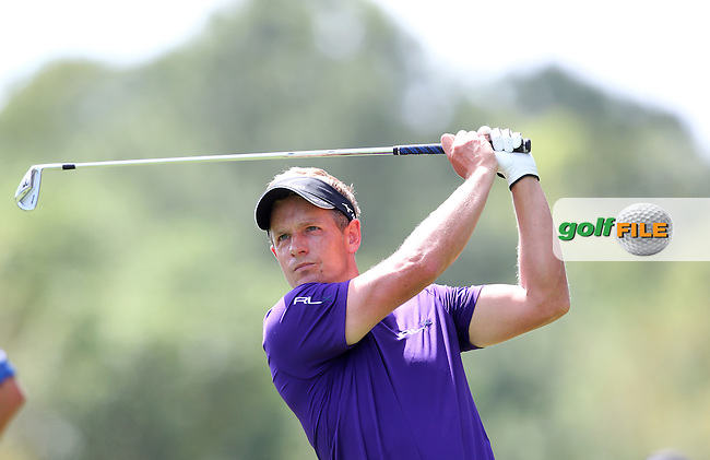 Luke Donald of England drives from the 2nd tee during the 3rd round of the Valspar Championship, Innisbrook Resort (Copperhead), Palm Harbor, Florida, USA<br /> Picture: Peter Mulhy / Golffile
