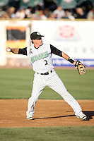 August 17 2008:  Matt Ray of the Kane County Cougars, Class-A affiliate of the Oakland Athletics, during a game at Philip B. Elfstrom Stadium in Geneva, IL.  Photo by:  Mike Janes/Four Seam Images