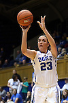 25 November 2014: Duke's Rebecca Greenwell. The Duke University Blue Devils hosted the State University of New York Buffalo Bulls at Cameron Indoor Stadium in Durham, North Carolina in a 2014-15 NCAA Division I Women's Basketball game. Duke won the game 88-54.