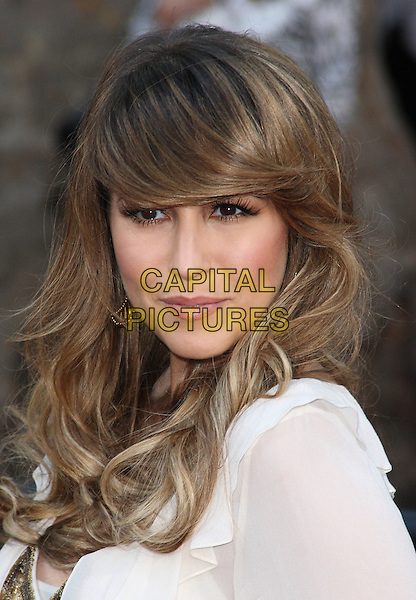 RACHEL STEVENS.'Sex And The City 2' European Premiere at the Odeon, Leicester Square, London, England..May 27th, 2010.headshot portrait white sheer sweeping fringe bangs hair make-up beauty .CAP/JIL.©Jill Mayhew/Capital Pictures