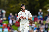 James Anderson of England during Day 4 of the Second International Cricket Test match, New Zealand V England, Hagley Oval, Christchurch, New Zealand, 2nd April 2018.Copyright photo: John Davidson / www.photosport.nz