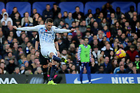Gylfi Sigurdsson of Everton takes a shot at the Chelsea goal during Chelsea vs Everton, Premier League Football at Stamford Bridge on 11th November 2018