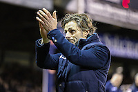 Gareth Ainsworth (Manager) of Wycombe Wanderers applauds the Luton Town fans after the Sky Bet League 2 match between Luton Town and Wycombe Wanderers at Kenilworth Road, Luton, England on 26 December 2015. Photo by David Horn.