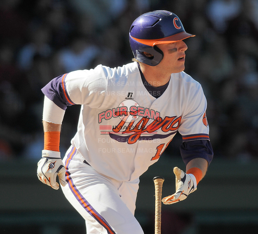 Outfielder Kyle Parker (11) during a game between the Clemson Tigers and South Carolina Gamecocks Saturday, March 6, 2010, at Fluor Field at the West End in Greenville, S.C. Parker was drafted by the Colorado Rockies with the No. 26 overall pick in the first round of the 2010 player draft. Photo by: Tom Priddy/Four Seam Images