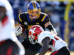 BROOKINGS, SD - OCTOBER 22:  Dallas Goedert #86 from South Dakota State University is brought down by Jameel Smith #26 from Youngstown State in the first half of their game Saturday afternoon at Dana J. Dykhouse Stadium in Brookings. (Photo by Dave Eggen/Inertia)