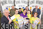 LIGHT FOR LIFE: Launching the Light for Life fundraiser for the Bee for Battens charity in Listowel on Friday, front l-r: Minister Jimmy Deenihan, Cora Brosnan, Mary and Liam Heffernan, Ciara Murphy. Back l-r: Michael Carey, Mary Carey, David O'Brien (Listowel Town Clerk), David Fitzgibbon (NEKD).