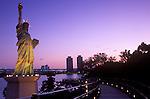 Asia, Japan, Tokyo, Daiba Dawn, Statue of Libery