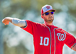 28 February 2016: Washington Nationals infielder Stephen Drew warms up prior to an inter-squad pre-season Spring Training game at Space Coast Stadium in Viera, Florida. Mandatory Credit: Ed Wolfstein Photo *** RAW (NEF) Image File Available ***