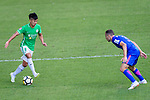Lee Ka Yiu of Wofoo Tai Po (L) in action against Daniel Cancela of Kitchee SC (R) during the Hong Kong FA Cup final between Kitchee and Wofoo Tai Po at the Hong Kong Stadium on May 26, 2018 in Hong Kong, Hong Kong. Photo by Marcio Rodrigo Machado / Power Sport Images