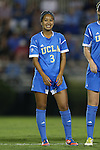 06 September 2013: UCLA's Caprice Dydasco. The University of North Carolina Tar Heels played the University of California Los Angeles Bruins at Koskinen Stadium in Durham, NC in a 2013 NCAA Division I Women's Soccer match. UNC won the game 1-0.