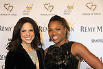 """CNN's Soledad O'Brien (co-mistress of ceremonies) and Deborah Koenigsberger (event chair) at Hearts of Gold's 16th Annual Fall Fundraising Gala & Fashion Show """"Come to the Cabaret"""", a benefit gala for Hearts of Gold on November 16, 2012 at the Metropolitan Pavilion, New York City, New York.   (Photo by Sue Coflin/Max Photos)"""