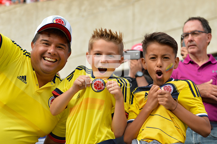 Chicago, IL - Wednesday June 22, 2016: Fans during a Copa America Centenario semifinal match between Colombia (COL) and Chile (CHI) at Soldier Field.
