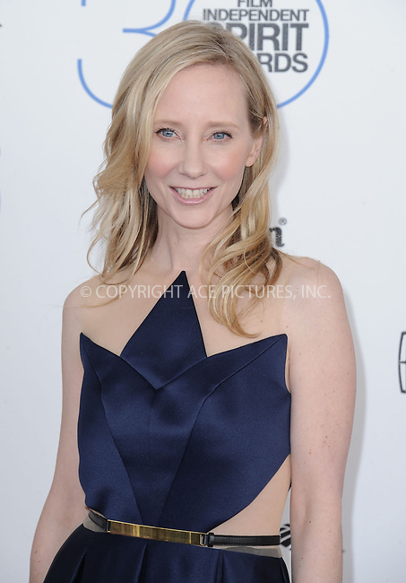 WWW.ACEPIXS.COM<br /> <br /> February 21 2015, LA<br /> <br /> Anne Heche arriving at the 2015 Film Independent Spirit Awards at Santa Monica Beach on February 21, 2015 in Santa Monica, California.<br /> <br /> By Line: Peter West/ACE Pictures<br /> <br /> <br /> ACE Pictures, Inc.<br /> tel: 646 769 0430<br /> Email: info@acepixs.com<br /> www.acepixs.com