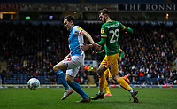 Blackburn Rovers' Stewart Downing shields the ball from Preston North End's Tom Barkhuizen<br /> <br /> Photographer Alex Dodd/CameraSport<br /> <br /> The EFL Sky Bet Championship - Blackburn Rovers v Preston North End - Saturday 11th January 2020 - Ewood Park - Blackburn<br /> <br /> World Copyright © 2020 CameraSport. All rights reserved. 43 Linden Ave. Countesthorpe. Leicester. England. LE8 5PG - Tel: +44 (0) 116 277 4147 - admin@camerasport.com - www.camerasport.com