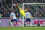 08.03.2019, Weser Stadion, Bremen, GER, 1.FBL, Werder Bremen vs FC Schalke 04, <br /> <br /> DFL REGULATIONS PROHIBIT ANY USE OF PHOTOGRAPHS AS IMAGE SEQUENCES AND/OR QUASI-VIDEO.<br /> <br />  im Bild<br /> <br /> Jiri Pavlenka (Werder Bremen #01)<br /> Matija Nastasic (FC Schalke 04 #5)<br /> Steven Skrzybski (FC Schalke 04 #22)<br /> <br /> <br /> Foto &copy; nordphoto / Kokenge