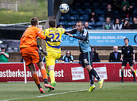 Michael Harriman of Wycombe Wanderers during the Sky Bet League 2 match between Wycombe Wanderers and Accrington Stanley at Adams Park, High Wycombe, England on the 30th April 2016. Photo by Liam McAvoy / PRiME Media Images.