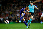 Youri Tielemans of Anderlecht fires a shot at goal  during the UEFA Europa League Quarter Final 2nd Leg match at Old Trafford, Manchester. Picture date: April 20th, 2017. Pic credit should read: Matt McNulty/Sportimage