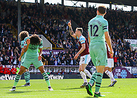 Burnley's Ashley Barnes celebrates scoring his side's first goal  <br /> <br /> Photographer Alex Dodd/CameraSport<br /> <br /> The Premier League - Burnley v Arsenal - Sunday 12th May 2019 - Turf Moor - Burnley<br /> <br /> World Copyright © 2019 CameraSport. All rights reserved. 43 Linden Ave. Countesthorpe. Leicester. England. LE8 5PG - Tel: +44 (0) 116 277 4147 - admin@camerasport.com - www.camerasport.com
