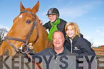 BAFTA and Academy Award winning actress, Brenda Blethyn, OBE, pictured with Tim and Roisin Clifford, Pony Tales Stables, Faha, as she launched their Easter Camp which will run from the 26th to the 28th April.