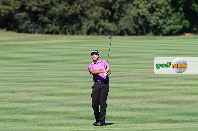 Darren Fichardt (RSA) on the 5th fairway during Round 2 of the Open de Espana  in Club de Golf el Prat, Barcelona on Friday 15th May 2015.<br /> Picture:  Thos Caffrey / www.golffile.ie