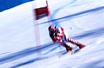 Discesa libera, disciplina olimpica invernale. Downhill alpine skiing, winter olympic discipline.